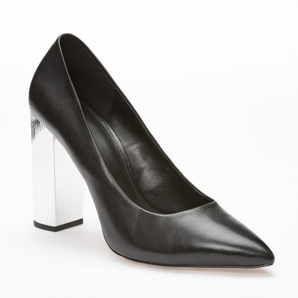 Michael Kors Paloma Metallic Block Heel